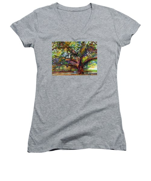 Sunlit Century Tree Women's V-Neck (Athletic Fit)