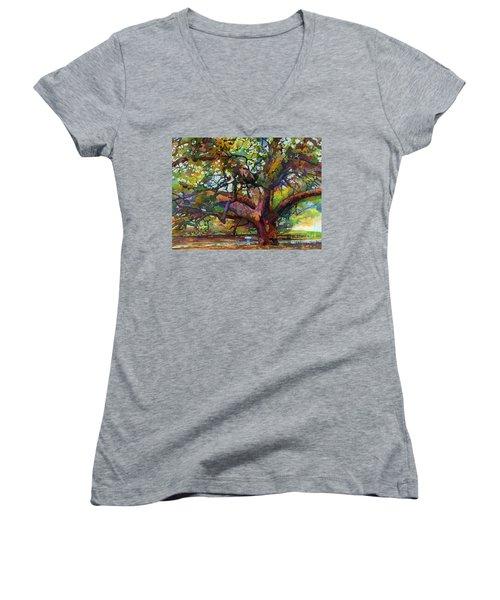 Sunlit Century Tree Women's V-Neck