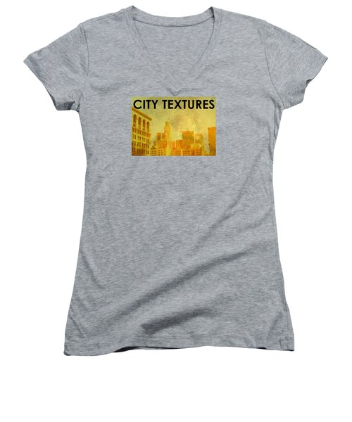 Sunny City Textures Women's V-Neck T-Shirt