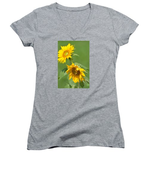Sunny Side Up 1 Women's V-Neck T-Shirt (Junior Cut)