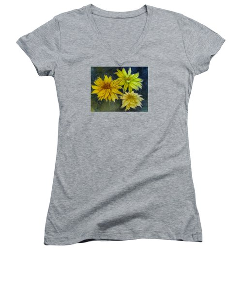 Sunny Yellow Women's V-Neck (Athletic Fit)