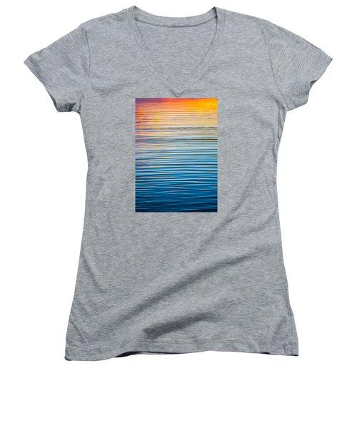 Sunrise Abstract  Women's V-Neck T-Shirt
