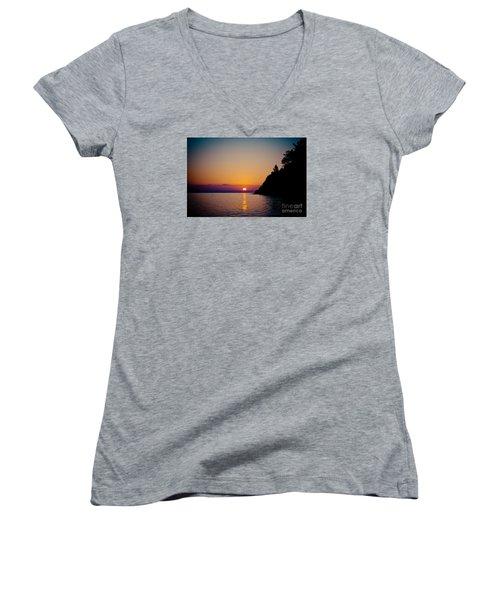 Sunrise And Seascape Women's V-Neck