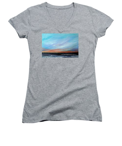 Sunrise And The Morning Star Eastern Shore Women's V-Neck (Athletic Fit)