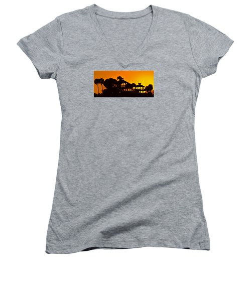 Sunrise At Barefoot Park Women's V-Neck T-Shirt (Junior Cut)
