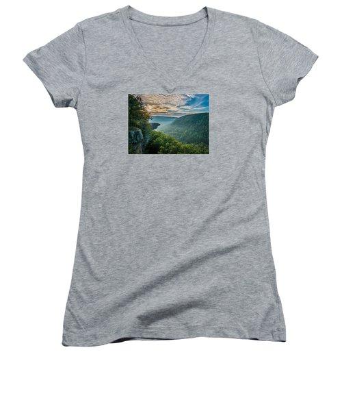 Sunrise At Hawksbill Crag Women's V-Neck T-Shirt