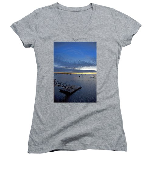 Sunrise At The Barnstable Yacht Club Women's V-Neck