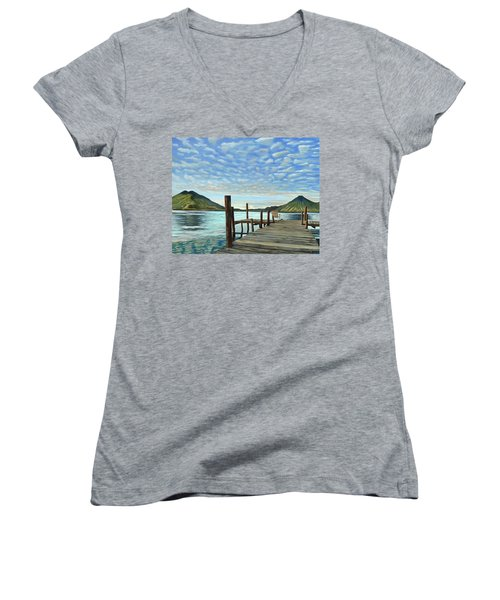 Sunrise At The Water Women's V-Neck T-Shirt