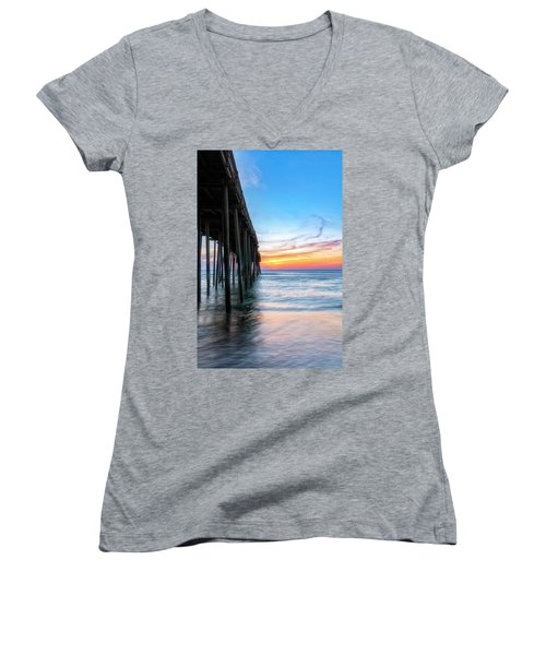 Sunrise Blessing Women's V-Neck (Athletic Fit)