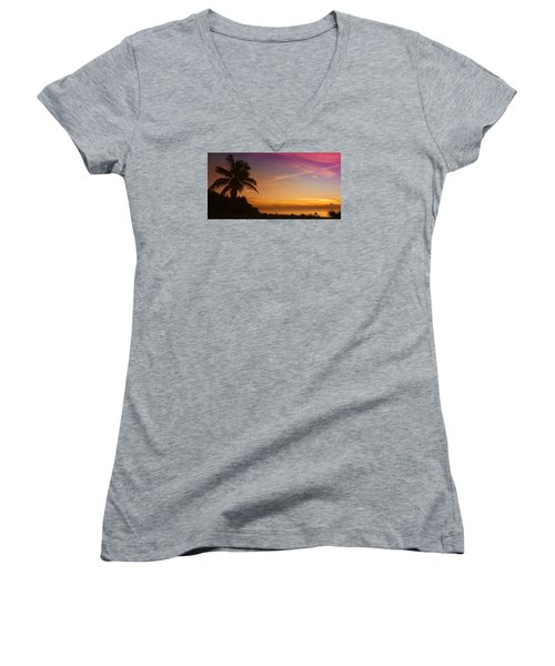 Sunrise Color Women's V-Neck T-Shirt (Junior Cut)