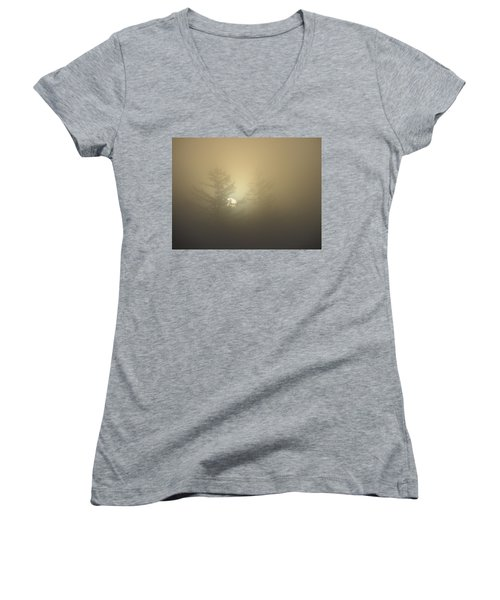 Sunrise Fogged - 1 Women's V-Neck (Athletic Fit)