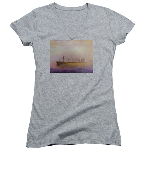 Sunrise Gold Women's V-Neck