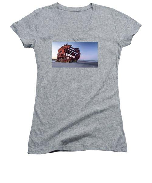 Sunrise In Astoria Women's V-Neck T-Shirt