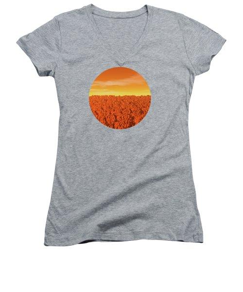 Sunrise On Planet Mars Women's V-Neck