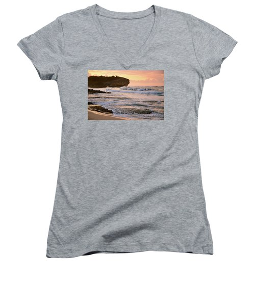 Sunrise On Shipwreck Beach Women's V-Neck (Athletic Fit)