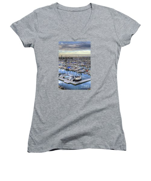 Sunrise On The Harbor Women's V-Neck