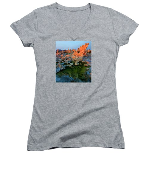 Sunrise On Tufa 2 Women's V-Neck T-Shirt