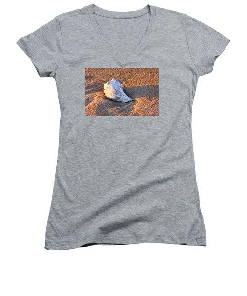 Sunrise Seashell Women's V-Neck T-Shirt (Junior Cut) by Allan Levin