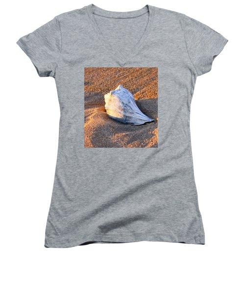 Sunrise Seashell Women's V-Neck T-Shirt