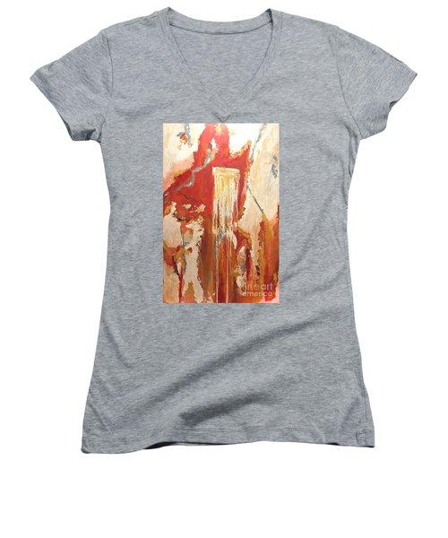 Sunrise Springs Women's V-Neck T-Shirt (Junior Cut)