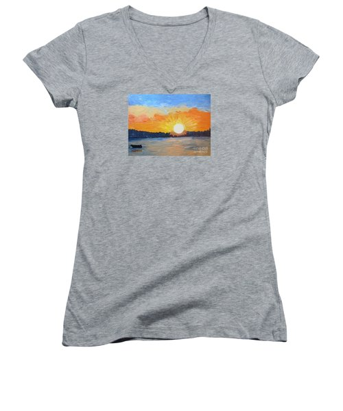 Sunrise Sensation Women's V-Neck