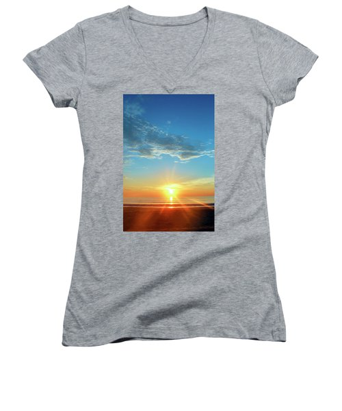 Sunrise With Flare Women's V-Neck (Athletic Fit)