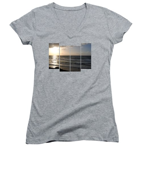 Sunset At Jaffa Beach T-shirt 2 Women's V-Neck (Athletic Fit)