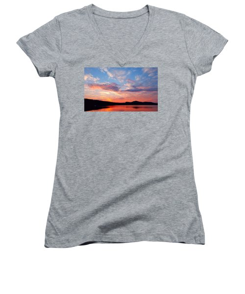 Sunset At Ministers Island Women's V-Neck