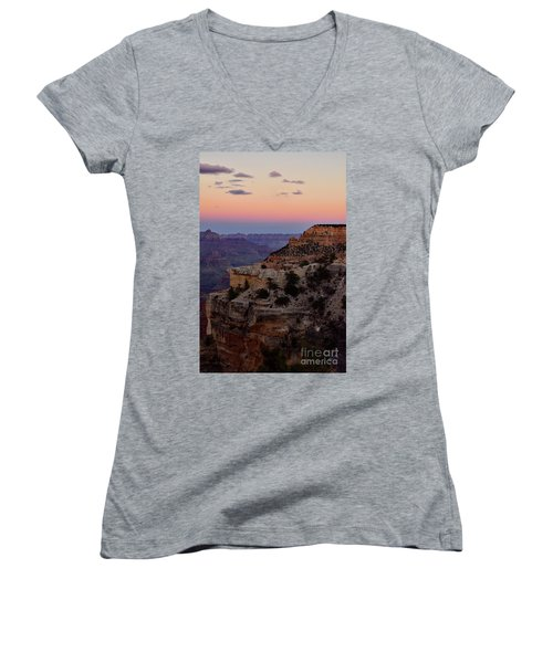 Sunset At The Grand Canyon Women's V-Neck (Athletic Fit)