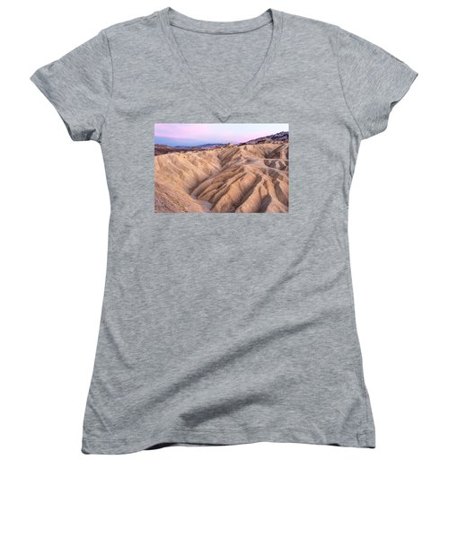 Sunset At Zabriskie Women's V-Neck
