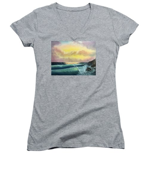 Sunset Beach Women's V-Neck T-Shirt