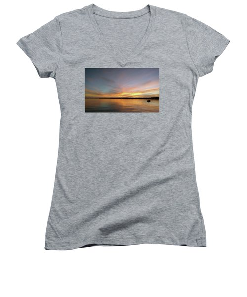 Sunset Blaze Women's V-Neck