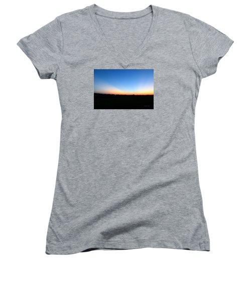 Sunset Blue Women's V-Neck T-Shirt