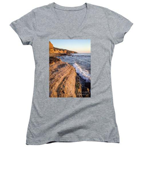 Sunset Cliffs, San Diego, California  -74706 Women's V-Neck