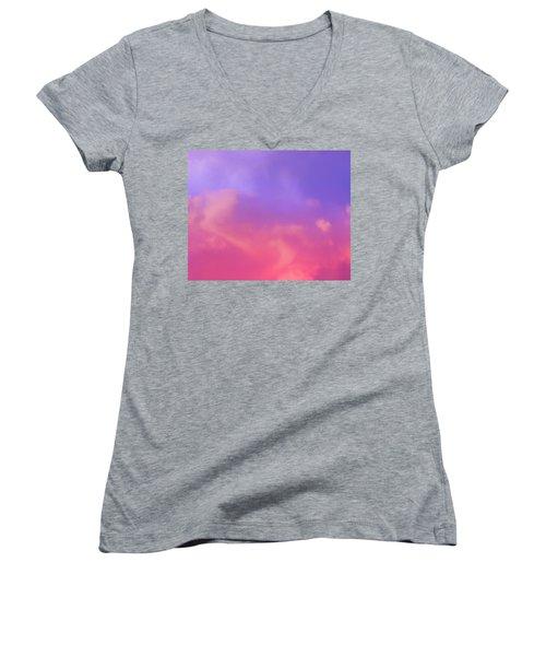 Sunset Clouds Women's V-Neck T-Shirt
