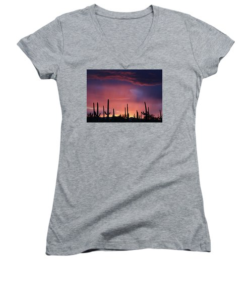Sunset Colors Women's V-Neck (Athletic Fit)