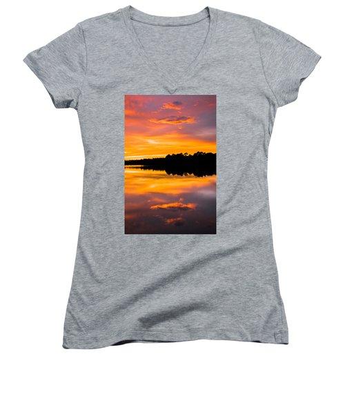 Sunset Colors Women's V-Neck