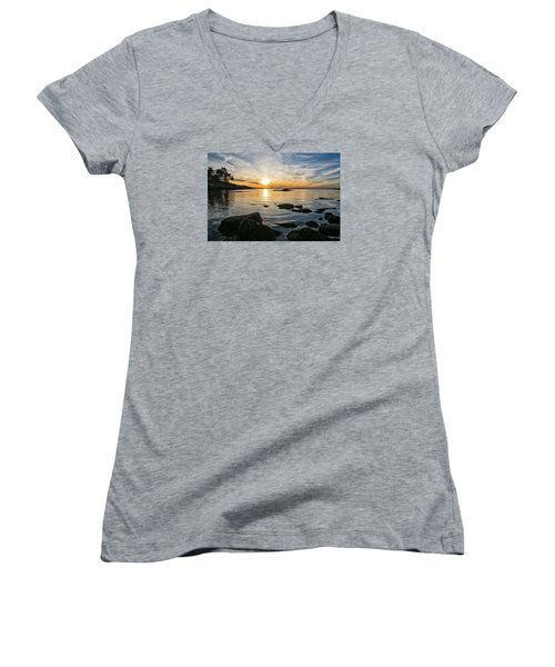 Sunset Cove Gloucester Women's V-Neck T-Shirt