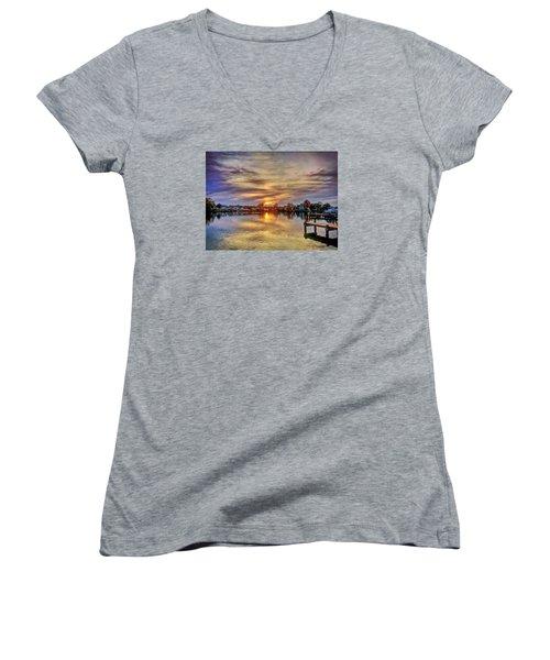 Sunset Creek Women's V-Neck T-Shirt