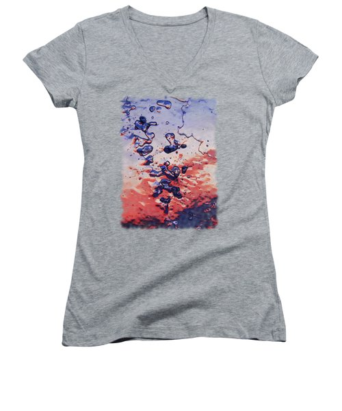 Sunset Flakes Women's V-Neck