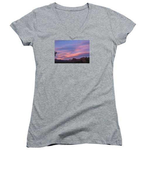 Sunset From Bell Rock Trail Women's V-Neck T-Shirt