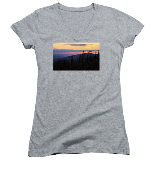 Sunset From Caps Ridge, Mount Jefferson Women's V-Neck (Athletic Fit)