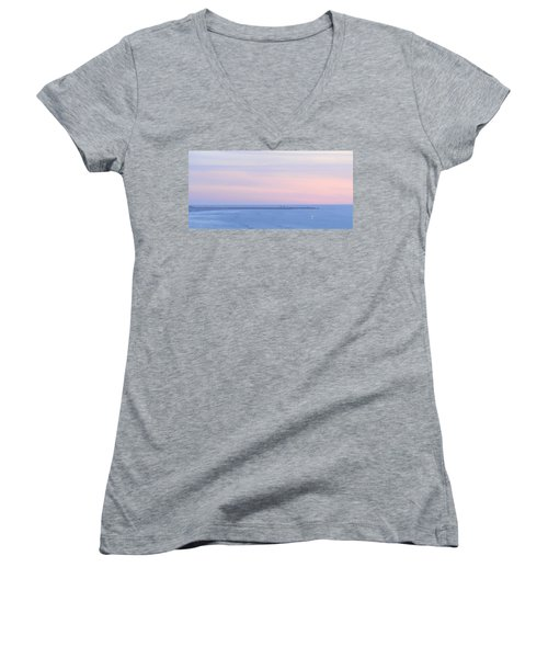 Sunset From Irish Beach Women's V-Neck (Athletic Fit)