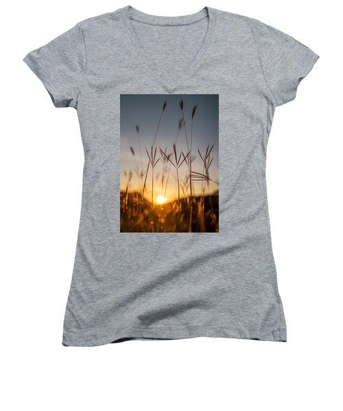 Sunset Grass Women's V-Neck