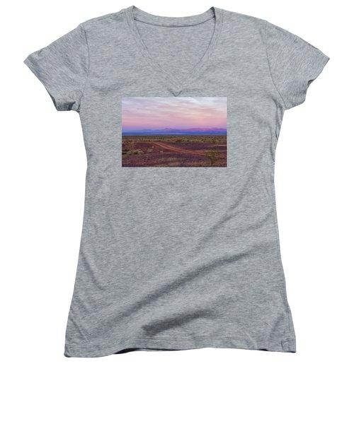 Sunset In Bouse Women's V-Neck T-Shirt