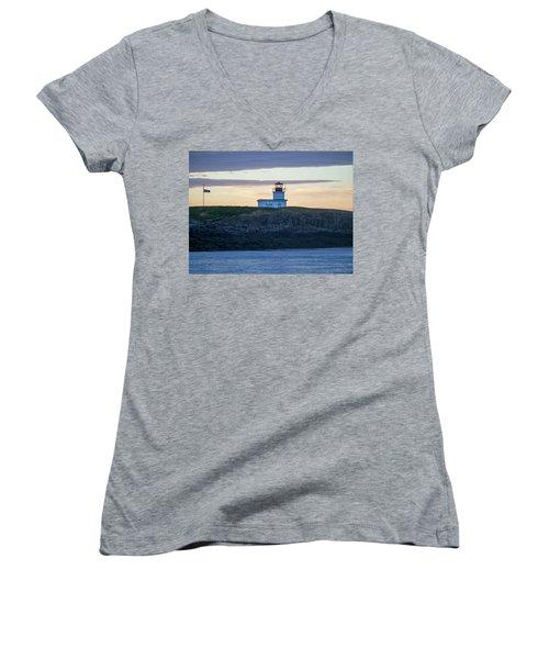 Sunset Nova Scotia  Women's V-Neck T-Shirt (Junior Cut) by Trace Kittrell