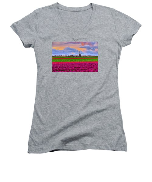 Sunset Of Colors Women's V-Neck T-Shirt