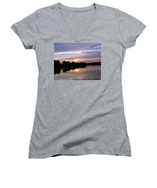 Sunset On The Snake Women's V-Neck T-Shirt