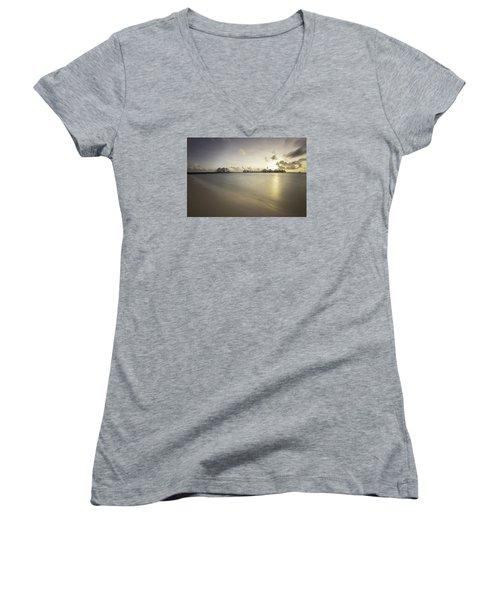 Sunset Paradise Women's V-Neck T-Shirt