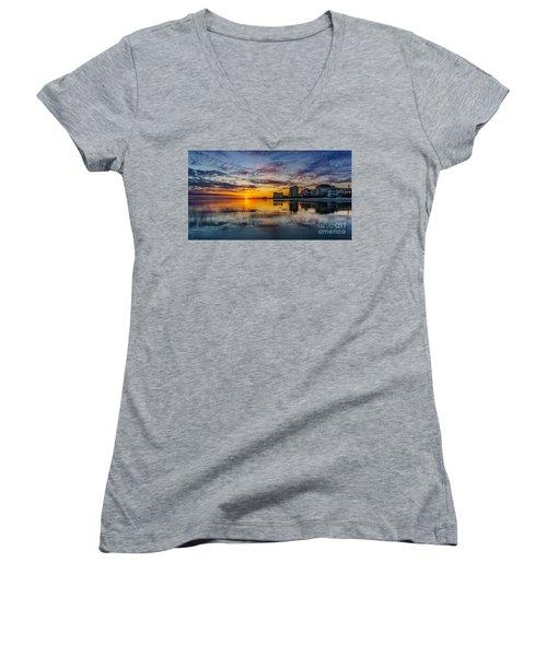 Sunset Reflection Women's V-Neck